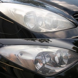 how to get headlights clean