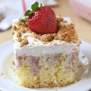 Strawberrycream Cheese Poke Cake